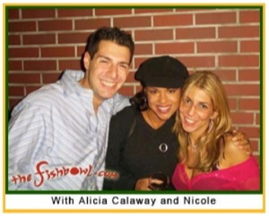 Here's Nicole and I in a picture that was on TheFishbowl.com about the going away party Nicole threw for me in October 2004.
