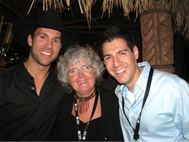 One of the few pictures I have from the Survivor 10-year Anniversary... of me with Colby and Gillian Larsen. Of course!