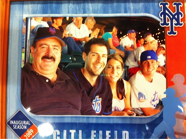A photo with my Dad from the first Mets game he took me too at Citifield in 2009
