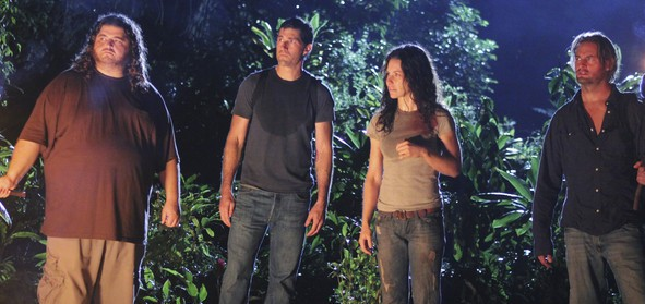 Hurley, Jack, Kate and Sawyer in What They Died For on LOST