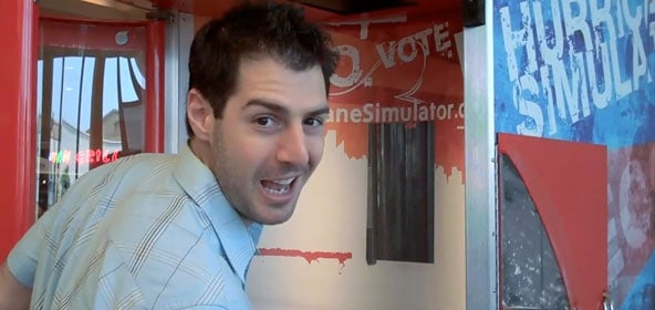 rob cesternino vs. the hurricane simulator