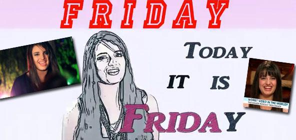Youtube sensation Rebecca Black sings Friday