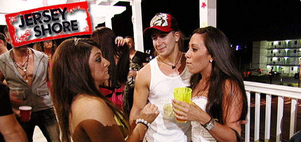 Deena Nicole and Vinny argue during the Jersey Shore season 3 finale