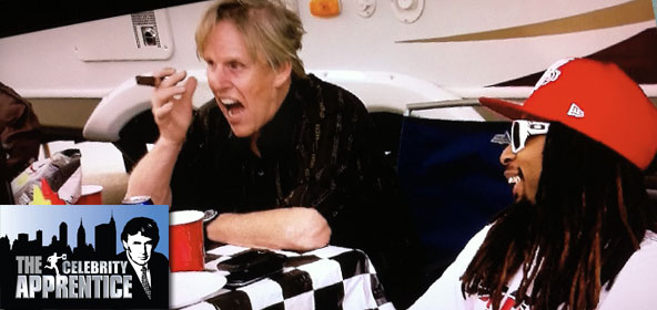 Gary Busey and Lil Jon camp out on Celebrity Apprentice