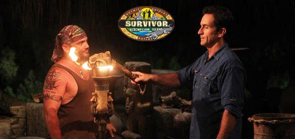 Russell Hantz gets voted out on Survivor Redemption Island