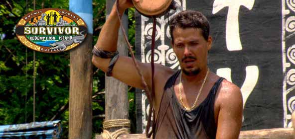 Boston Rob Mariano pours water on his head during Survivor Redemption Island