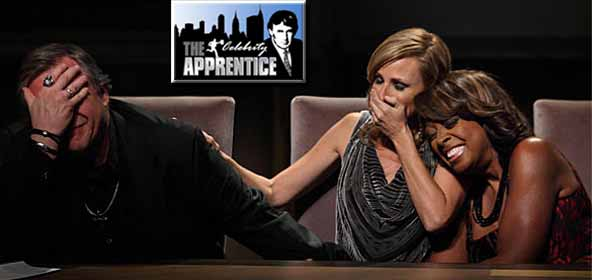 Meat Loaf, Marlee Matlin & Star Jones in the Board Room on Celebrity Apprentice