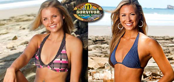 Andrea Boehlke and Ashley Underwood from Survivor Redemption Island