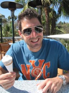 Rob Cesternino has an Ice Cream cone
