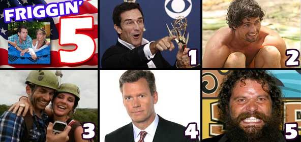 Friggin 5 - Jeff Probst talk show, Shannon Elkins on the Bachelorette, Love in the Wild, Chris hansen-gate and Rupert's New Casino game