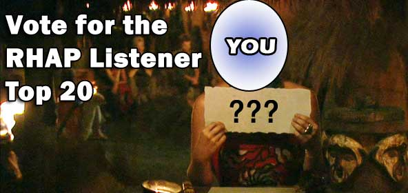 The Rob Has a Podcast Top 20 Survivor Listener Vote