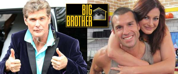 David Hasselhoff joins Brendon and Rachel in the Big Brother 13 house.