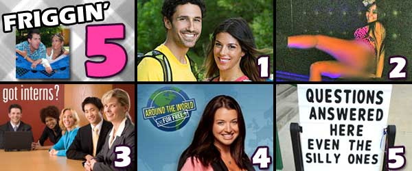 Jenna Morasca and Ethan Zone on the Amazing Race, Snooki Gets Naked in Italy on Jersey Shore, Does Rob Have an Intern, Parvati Has Surgery and much more.