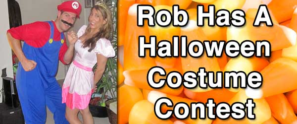 Rob and Nicole Have a Halloween Costume Contest
