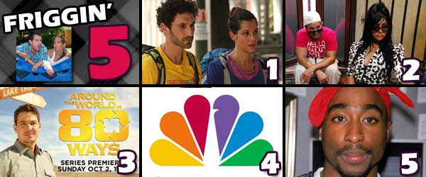 Jenna and Ethan Eliminated on The Amazing Race, Snooki with 3 guys, Parvati and Boston Rob go Around the World, NBC's plan to steal Survivor and A Tupac Sex Tape