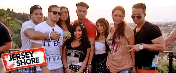 A Scene from the Finale of the Jersey Shore Season 4 in Italy