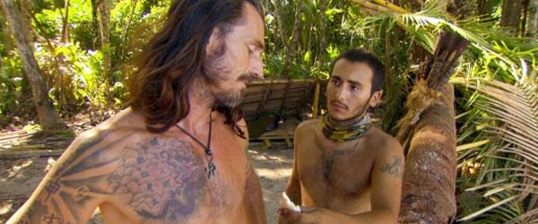 Coach Ben Wade and Brandon Hantz on Survivor South Pacific
