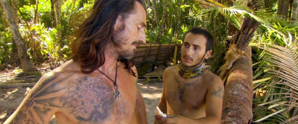 Coach Ben Wade and Brandon Hantz on Survivor South Pacific