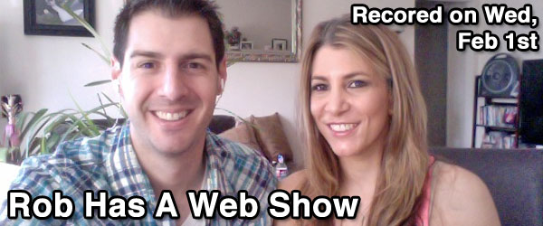 Rob and Nicole Cesternino LIVE on Wed, Februrary 1st