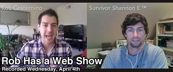 Rob Cesternino talks to Survivor Shannon Elkins on Rob Has a Web Show