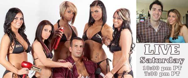 Rob Has a Web Show LIVE with the cast of Bikini Barbsershop Jersey