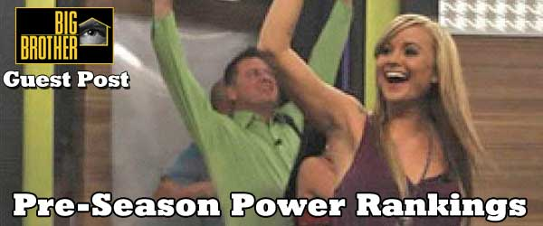 Guest blogger Andy Baker ranks and gives pre-season predictions for the Big Brother 14 cast.