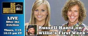 Russell Hantz gives his comments on Willie Hantz' game after Kara Monaco is evicted in the first week of Big Brother 14