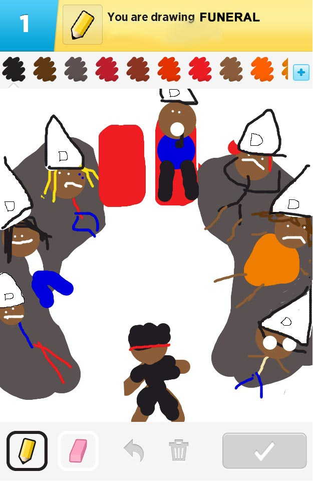 A rejected Draw Something from this week's Veto competition on Big Brother