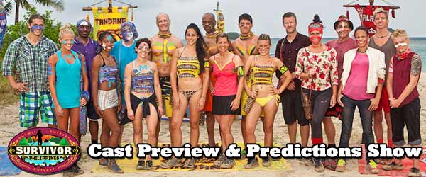 Previewing the Cast of Survivor 25, Survivor: Philippines including returning players Mike Skupin, Jonathan Penner, Russell Swan and Jeff Kent and Lisa Whelchel