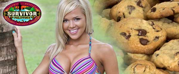 In her exit interview, Angie Layton discusses her love of cookies and being the third person voted out of the Matsing Tribe on Survivor Philippines.
