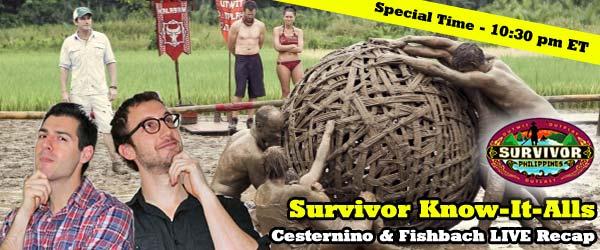Rob Cesternino and Stephen Fishbach recap the latest episode of Survivor Philippines on the Survivor Know-It-Alls Recap