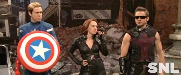 Jeremy Renner takes on the Avengers in the latest edition of SNL