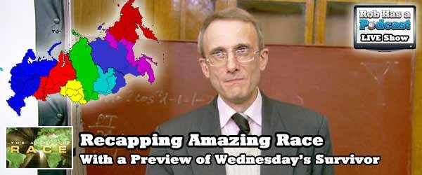 Pencils Down - Recapping the Amazing Race on Rob has a Web Show