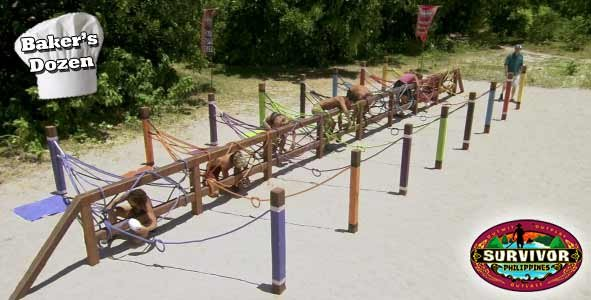 The final 8 Survivor Philippines players compete for immunity