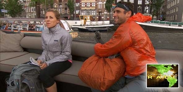 Ryan and Abbie were Eliminated after being U-Turned in Episode 9 of The Amazing Race