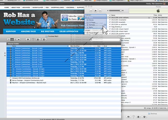 Step 3: Drag the highlighted files into your iTunes music folder