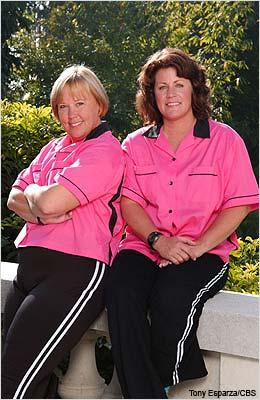 Bowling moms, Linda and Karen