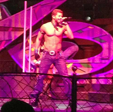 Chippendale Jaymes Vaughn performs at the Rio