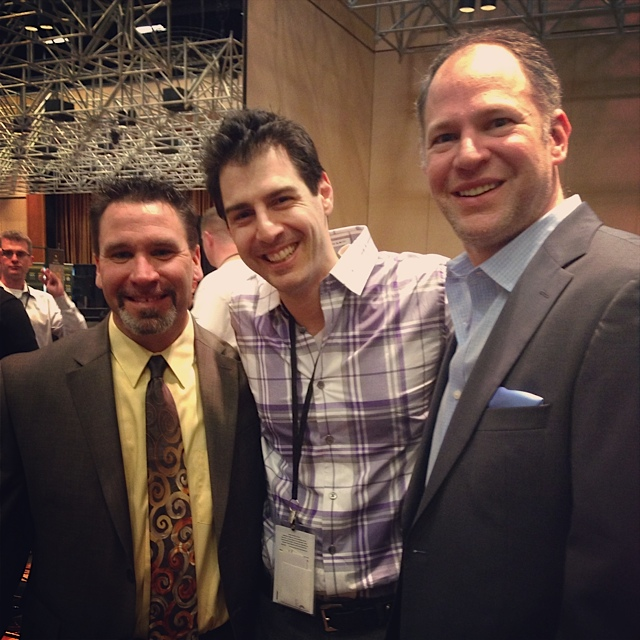 Jay Soderberg, Rob Cesternino and Matthew Berry at the 2012 Podcast Awards