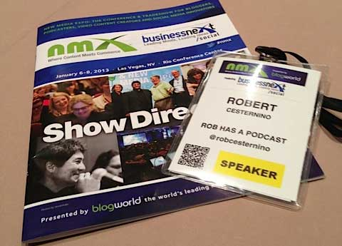 Rob's badge at NMX