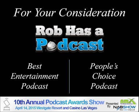 Nominate RHAP for the 10th Annual Podcast Awards from 1/19/2015 through 1/30/2015