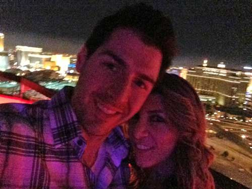 Rob and Nicole up on Top of the Rio