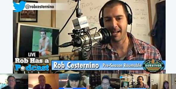 Rob Ceesternino hosts the Survivor Caramoan Pre-Season Roundtable