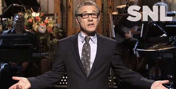 Christoph Waltz hosts the latest episode of Saturday Night Live