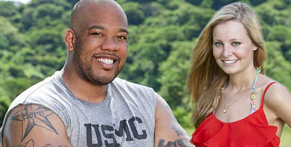 Shamar Thomas and Laura Alexander of the Fans Tribe on Survivor Caramoan