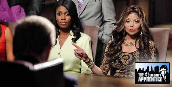 Latoya Jackson and Omarosa battle it out in the boardroom on Celebrity Apprentice