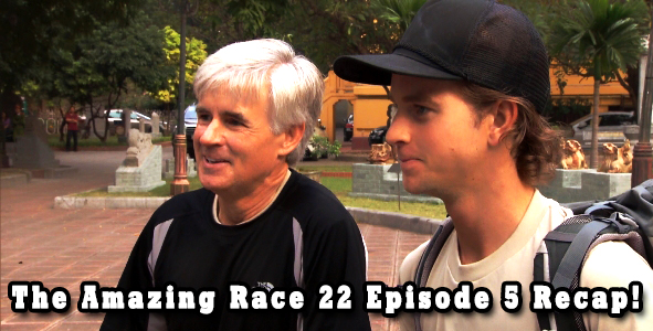 David and Connor on Amazing Race 22