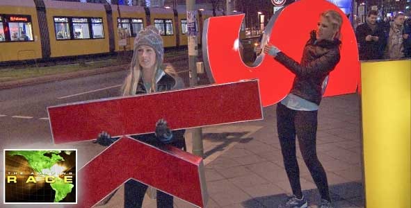 The country girls are carrying letters on the amazing race