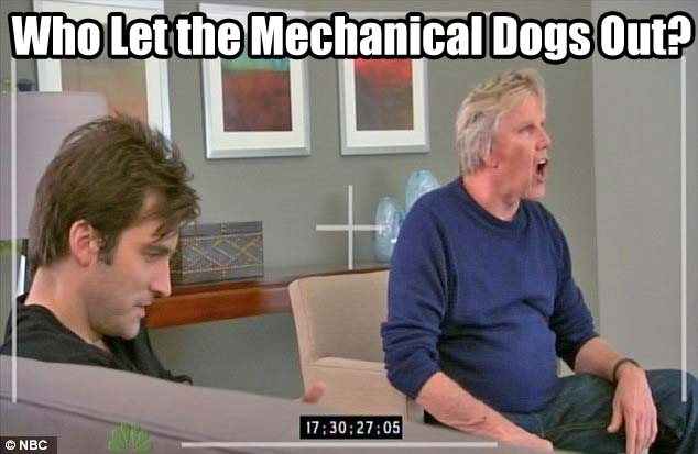 Who Let the Mechanical Dogs Out?  Why Gary Busey did!