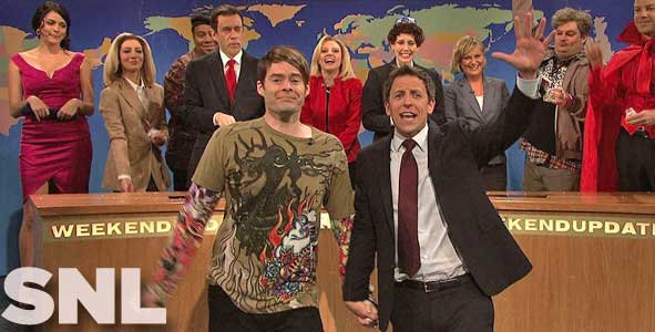 Bill Hader gets a sendoff on Weekend Update